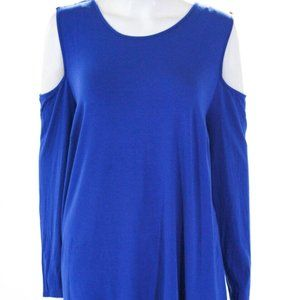 Vince Camuto Cold Shoulder Blue Blouse